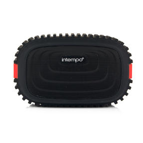 Intempo EE1272REDSTK Water Resistant Wireless Bluetooth Speaker, Red Thumbnail 2
