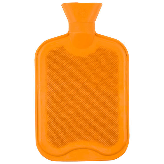 Beldray Ribbed Hot Water Bottle, 2 Litre, 32 x 19.5 cm, Orange