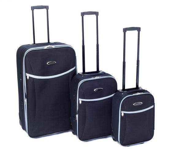 Constellation LG00265BLKSAMIL Rome Eva 3 Piece Suitcase Set, 16?, 20?, 28?, Black