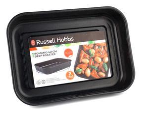Russell Hobbs CW11431 Romano Vitreous Enamel Deep Roaster, 42 cm, Black Thumbnail 6