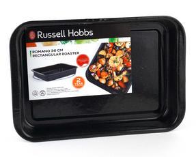 Russell Hobbs CW12611 Romano Vitreous Enamel Roaster, 36 cm, Black Thumbnail 6