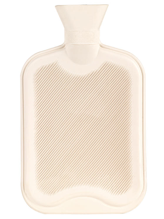 Beldray Hot Water Bottle with Fleece Cover, 2 Litre, 33 x 19.5 cm, Cream Main Image 2