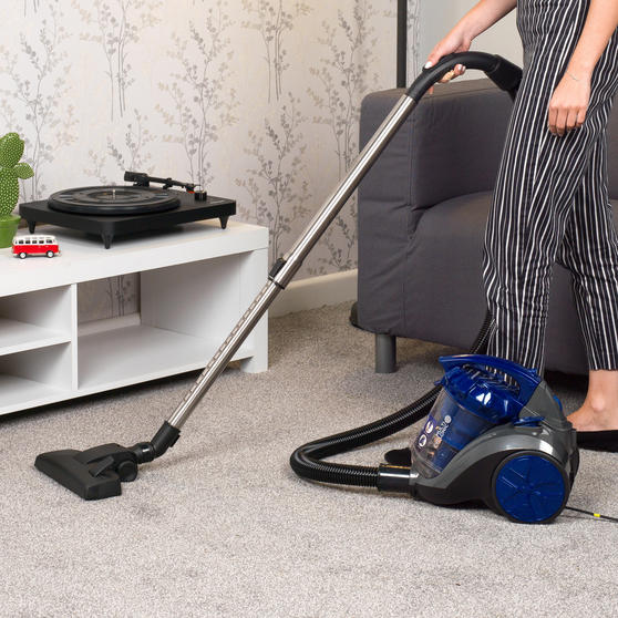 Beldray Multicyclonic Cylinder Vacuum Cleaner, 2 Litre, 700 W, Blue Thumbnail 4