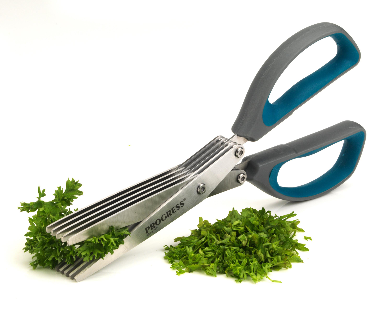 Progress 5-Blade Herb Cutting Kitchen Scissors, 2CR14 Stainless ...