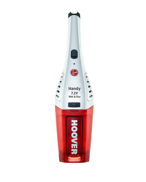 Hoover SJ72WD6A/1 Jive Wet and Dry Cordless Handheld Vacuum Cleaner, 7.2 V, Red/White