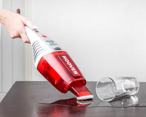 Hoover SJ72WD6A/1 Jive Wet and Dry Cordless Handheld Vacuum Cleaner, 7.2 V, Red/White Thumbnail 2