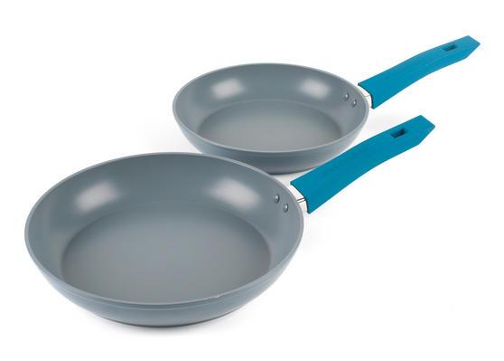Progress Forged Aluminium Non Stick Frying Pan Set, 24/28 cm, MASTER