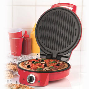 "American Originalss EK2295 10"" Pizza Maker and Multi Grill, Red"