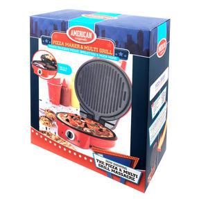 "American Originalss EK2295 10"" Pizza Maker and Multi Grill, Red Thumbnail 3"