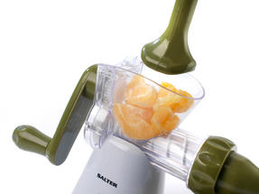Salter Mini Chopper and Manual Hand-Crank Juicer Prep Set, White/Green Thumbnail 6