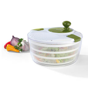 Salter Salad Spinner and Press Chopper Prep Set, White/Green Thumbnail 5