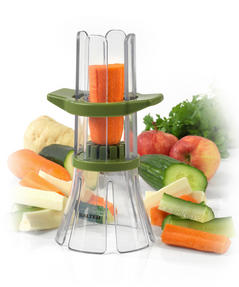 Salter Fruit and Vegetable Baton Stick Slicer and Meal Storage Pot Prep Set, White/Green Thumbnail 7