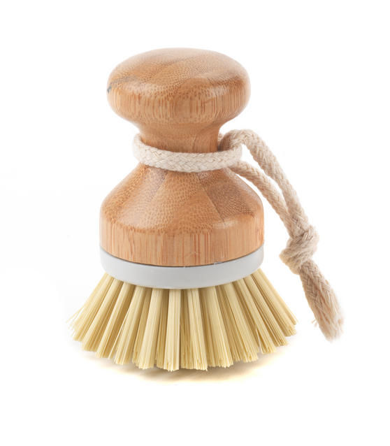 Beldray Bamboo Dish Scrubbing Brush Set of Four Thumbnail 2