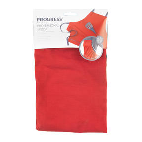 Progress Professional Kitchen Set with Oven Gauntlet, Neoprene Pan Handle Sleeve and Apron, Red Thumbnail 3
