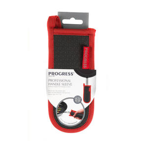 Progress Professional Kitchen Set with Oven Gauntlet, Neoprene Pan Handle Sleeve and Apron, Red Thumbnail 7