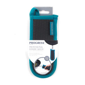 Progress Professional Kitchen Set with Neoprene Oven Gauntlet, Neoprene Pan Handle Sleeve and Pack of Three Tea Towels, Teal Thumbnail 7