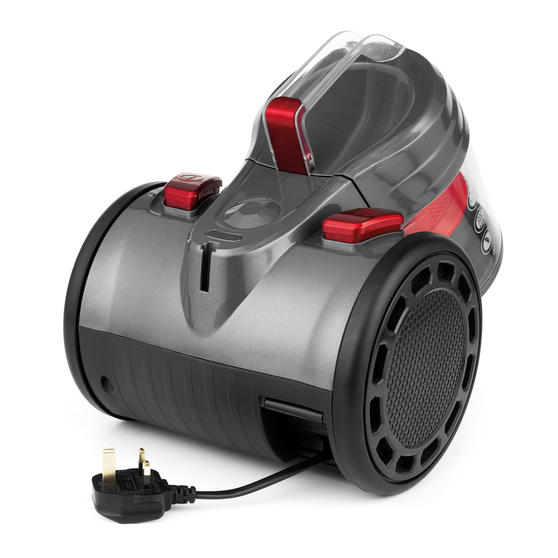 Beldray Compact Vac Lite Cylinder Vacuum, 2 Litre, 700 W, Red Thumbnail 6