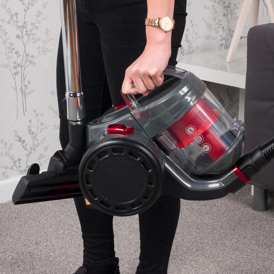 Beldray Compact Vac Lite Cylinder Vacuum, 2 Litre, 700 W, Red Thumbnail 8