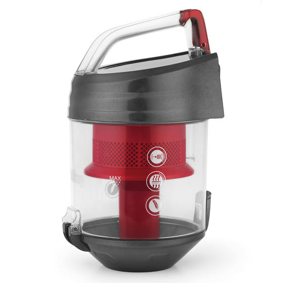 Beldray Compact Vac Lite Cylinder Vacuum, 2 Litre, 700 W, Red Thumbnail 4