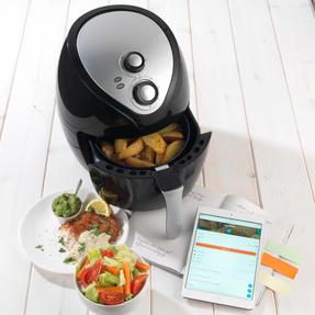 Weight Watchers EK2460WW Healthy Hot Air Fryer, 3.2 Litre, 1400 W, Black Thumbnail 2