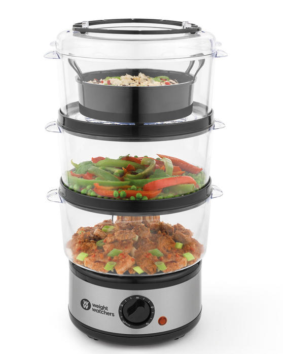 Weight Watchers EK2760WW 3-Tier Steamer, 7.5 Litre, 500 W
