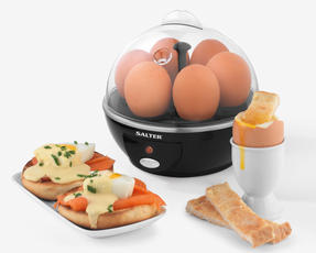 Salter EK2783 Electric Boiled Poached Egg Cooker, 430 W