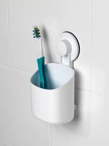 Beldray LA043191 Plastic Suction Toothbrush Holder, White Thumbnail 6
