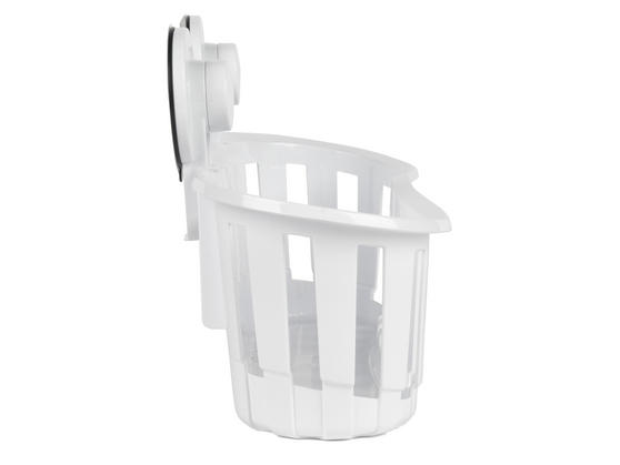 Beldray Plastic Suction Bathroom Shower Basket, White Thumbnail 3