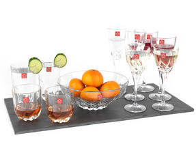 RCR 25123020006 Twist Crystal Hi-Ball Cocktail Water Tumblers Glasses, 470 ml, Set of 2 Thumbnail 2