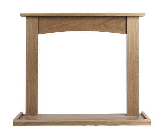 Beldray Fairford Fire Surround and Hearth Tray, Oak Veneer Thumbnail 1
