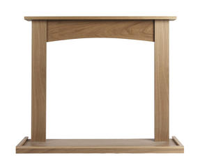 Beldray EH1764BQ Fairford Fire Surround and Hearth Tray, Oak Veneer