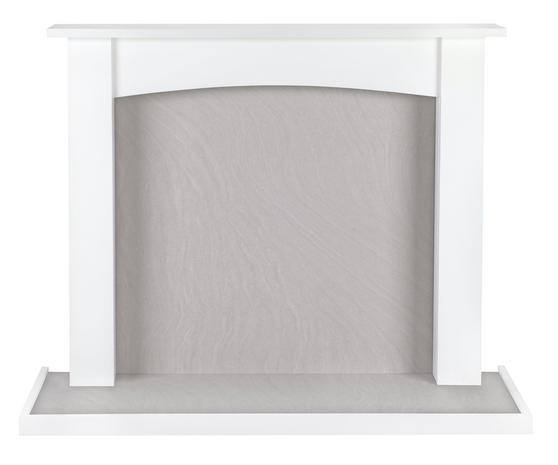 Beldray Fairford Fire Surround and Hearth Tray, Satin White Thumbnail 1