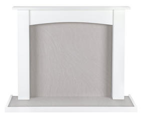 Beldray EH1764WHBQ Fairford Fire Surround and Hearth Tray, Satin White