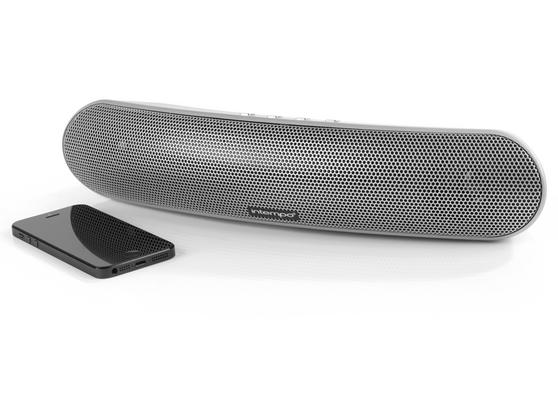 Intempo Curved Bluetooth Metallic Speaker, Silver