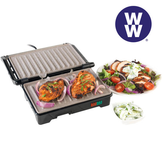 Weight Watchers EK2759WW Fold-Out Health Grill with Marble Non-Stick Coating, 750 W