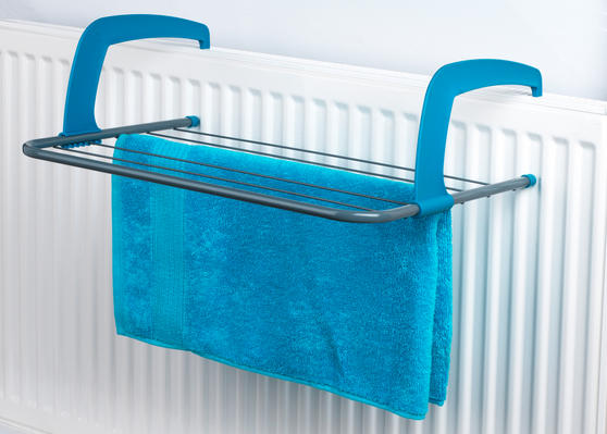 Beldray LA027535TQ 5 Bar Radiator Airer Dryer, Turquoise