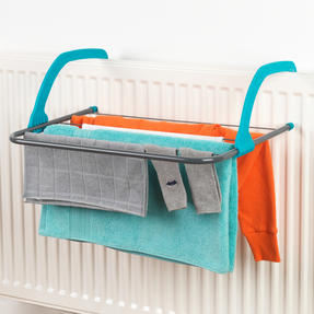 Beldray LA027535TQ 5 Bar Radiator Airer Dryer, Turquoise Thumbnail 2