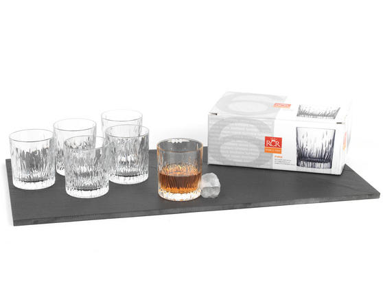 RCR 24848020006 Fire Crystal Gin Water Large Tumblers Glasses, 330 ml, Set of 6