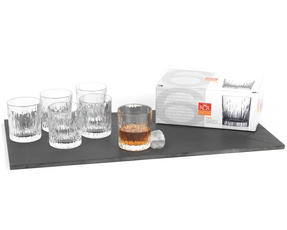 RCR 24848020006 Fire Crystal Gin Water Large Tumblers Glasses, 330 ml, Set of 6 Thumbnail 1