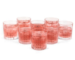RCR 26375020006 Timeless Crystal Cocktail Whisky Water Tumblers Glasses, 360 ml, Set of 8