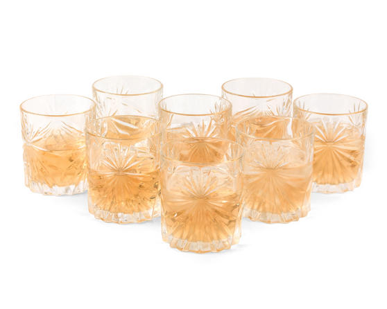 RCR 26376020006 Oasis Crystal Cocktail Whisky Water Tumblers Glasses, 360 ml, Set of 8