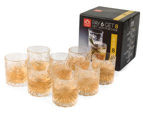RCR 26376020006 Oasis Crystal Cocktail Whisky Water Tumblers Glasses, 360 ml, Set of 8 Thumbnail 5