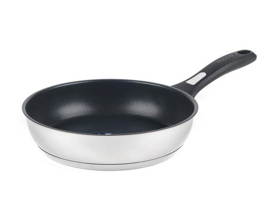 Thomas P500112 Lock & Pour Non-Stick Frying Pan, 26 cm, Stainless Steel