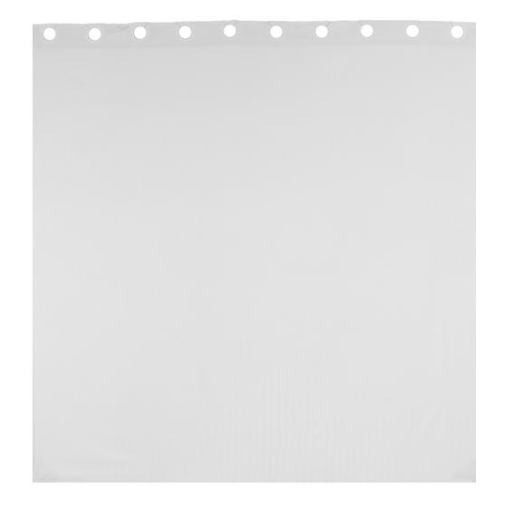 Beldray Waffle Hookless Shower Curtain, 180 x 180 cm, White Thumbnail 4