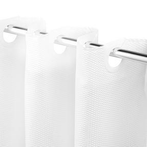 Beldray LA041814WHT Waffle Hookless Shower Curtain, 180 x 180 cm, White Thumbnail 2