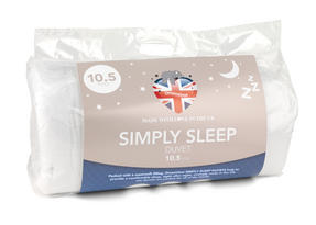 Dreamtime MFDT15070 Simply Sleep 10.5 Tog Duvet, Polyester, Single, White Thumbnail 1