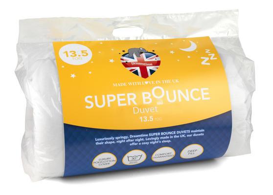 Dreamtime MFDT15155 Super Bounce 13.5 Tog Duvet, Polyester, Single, White