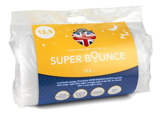 Dreamtime MFDT15193 Super Bounce 13.5 Tog Duvet, Polyester, King Size, White