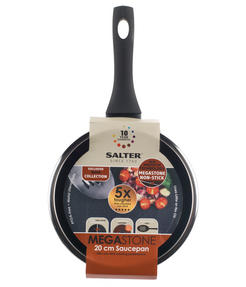 Salter BW05750 Megastone Collection Non-Stick Forged Aluminium Saucepan, 20 cm, Black Thumbnail 5
