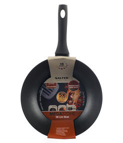 Salter Megastone Collection Non-Stick Forged Aluminium Wok, 28 cm, Black Thumbnail 5